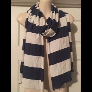 Aeropostale Navy and Cream Rugby Scarf
